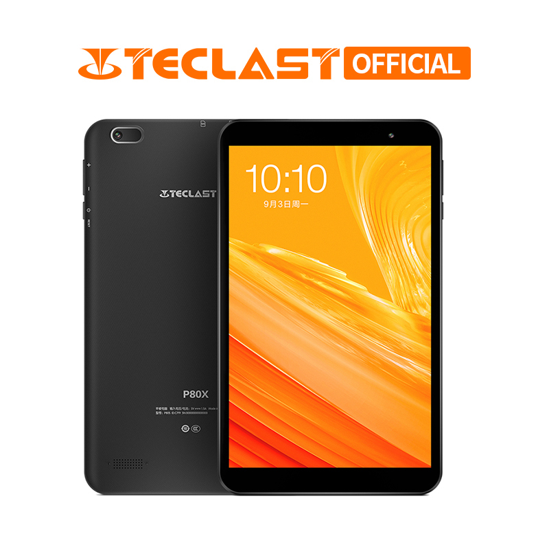 8 Polegada P80X 4G LTE Teclast Phablet Tablet PC Spreadtrum SC9863A 2GB RAM Octa Núcleo Android 9.0 GPS 16GB ROM 1280x800 IPS Tablet
