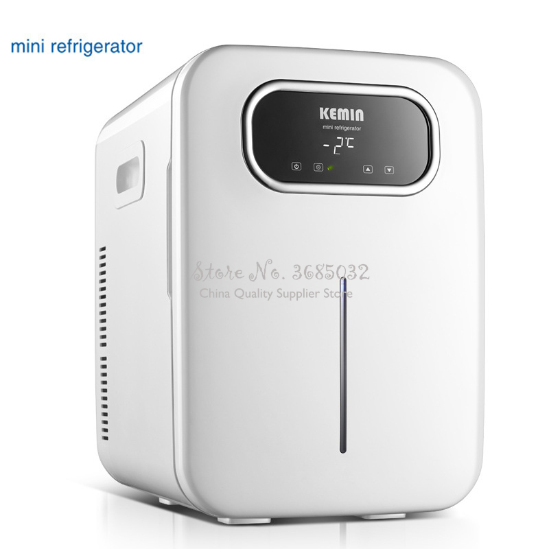 20L Mini Refrigerator Small Home Single Door Low Noise Car Mini Refrigerators Freezer Cooling Heating Box Fridge