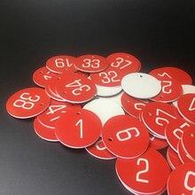 Número gravado redondo discos de mesa tag ginásio armário bar pub restaurante clube hotéis 1-100 ou 1-50 números escolha