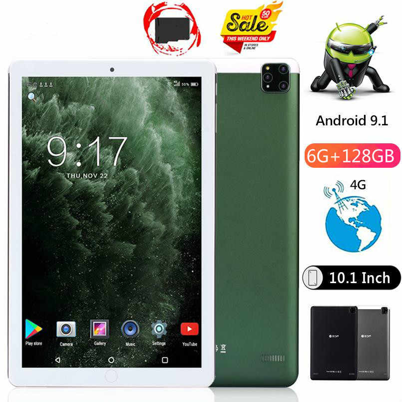 2020 Octa Core 10 Inch Tablet Pc Real Ram 6Gb Rom 128Gb 8.0MP 5000Mah 1280*800 ips Android 9.0 4G Telefoongesprek Tabletten