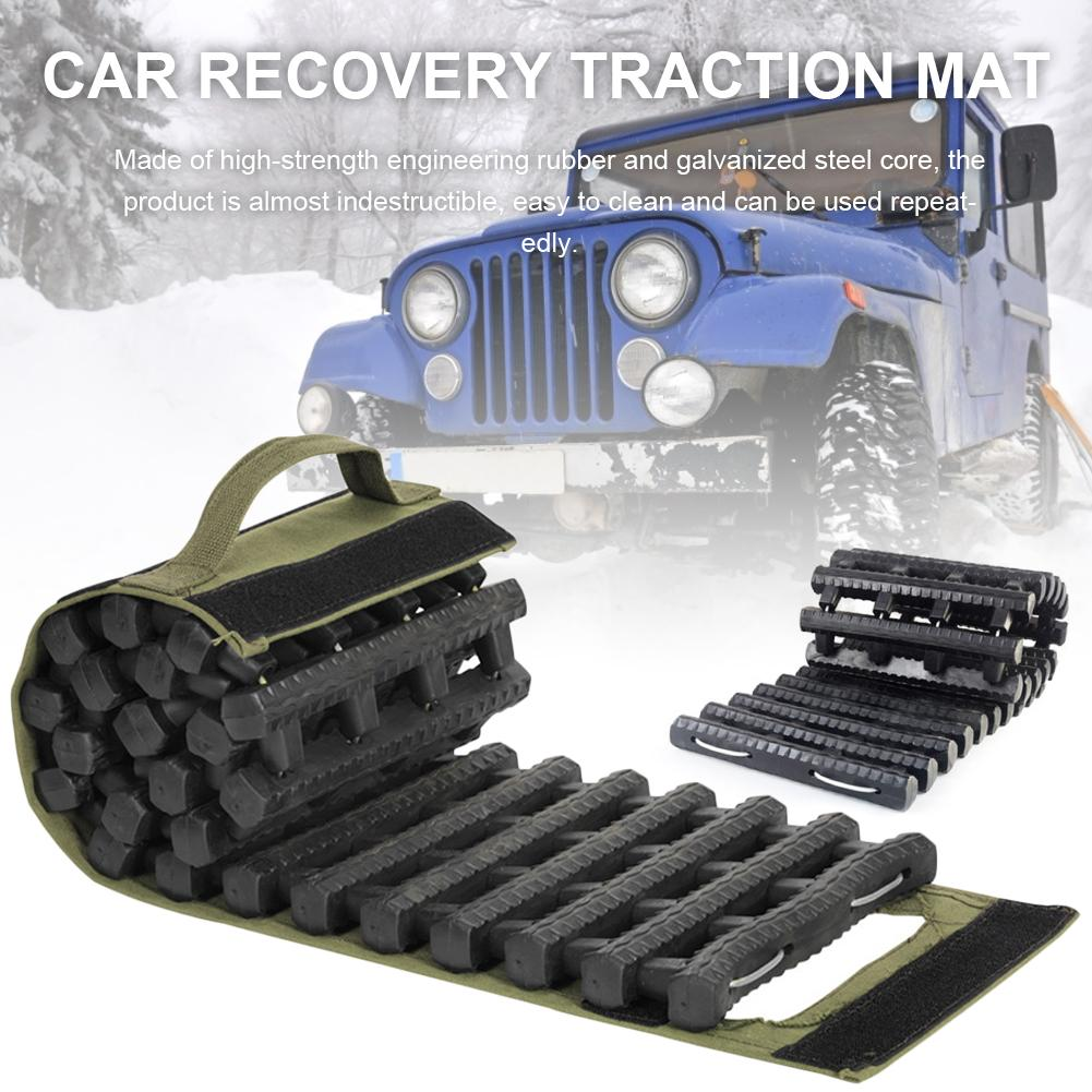 Universal Car Grip Tracks Traction Mat Recovery Traction Mat Portable Emergency Track Tire Ladder For Ice Snow Sand Off-Road(China)