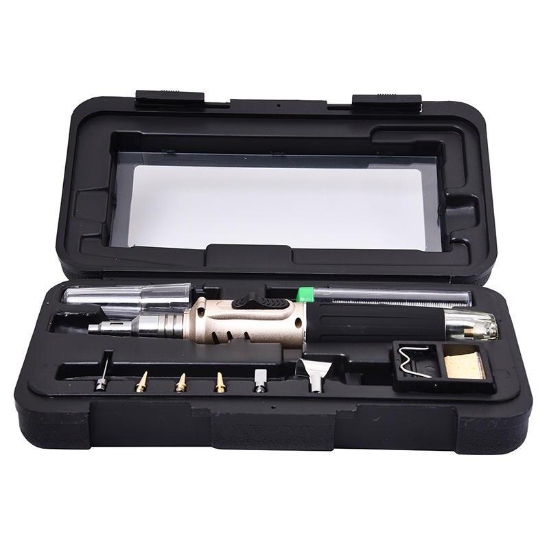 HS-1115K Professional Butane Gas Soldering Iron Kit Welding Kit Torch