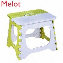 Прочный утолщенный пластик складной маленький стул портативный сложенный стул мини детский стул взрослый домашний маленький скамейка подшипник 60 кг
