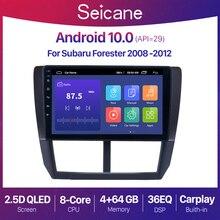 Seicane 안드로이드 10.0 2 + 32G 자동차 라디오 GPS For Subaru Forester 3 2007 2013 Subaru Impreza 2007   2011 Navigation 2 din 9 Inch