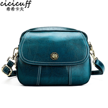 Quality-Bags Women Messenger-Bag Shoulder Small New-Fashion Solid for Genuine-Oil-Wax