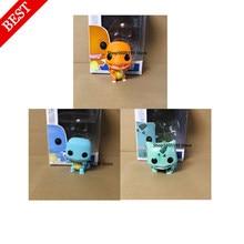 Nova charmander squirtle com caixa figura pop brinquedos coleção modelo de brinquedo para crianças