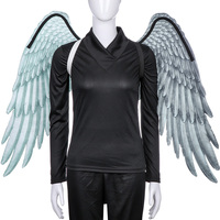 Cospty Halloween Carnival Party Felt Printed Adult Cosplay Wing Large Black and White Angel Wings