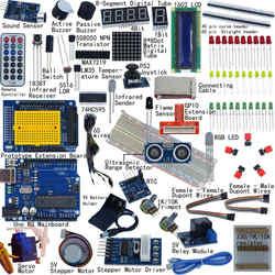 Ultimate Starter zestaw do arduino UNO R3 1602 LCD serwosilnik Breaddboard LED|Układy scalone|Części elektroniczne i zaopatrzenie -