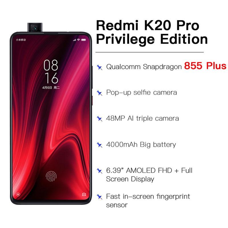 ROM globale D'origine Xiaomi Redmi K20 Pro Exclusive Edition 8 GO RAM 512 GO Snapdragon 855 Plus 4000mAh 6.39 ''Smartphone - 4
