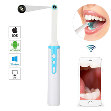 WiFi Wireless Camera HD 1080P Endoscope LED Light Inspection for Dentist Oral Real-time Video Dental Tools