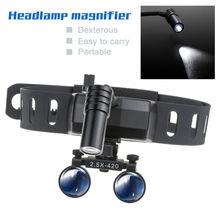 Magnifier Dental-Loupes Medical Headband Headlight with 5W