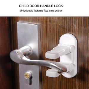 Door Lever Lock - Child Proof Safety Door Handle Lever Lock Self-Adhesive Door Lever Handle Prevent Toddler Kids Open Dropship