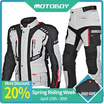 Motoboy new touring adventure motorcycle protective 3layer jacket&pant suit high visible vest and waterproof and warm liner