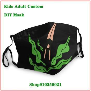 DIY masque adulte lavable Diving Into Plants face mask washable mouth mask cotton mascara reutilizable con filtro