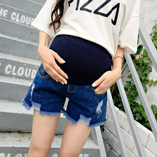 Hot Sale 2020 Summer New Arrival Maternity Fashion Short Jeans Denim Hot Pants For Pregnant Women
