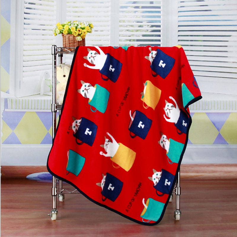 Super Soft Flannel Pet Blanket Bed Thicken Dog Cushion Puppy Kitty Shower Towel Cute Home Rug Warm Sleeping Cover Pet Supplies 13