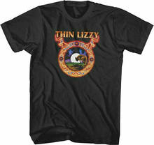 Fina lizzy licença oficial banda camisa lobo luna tallas de adulto