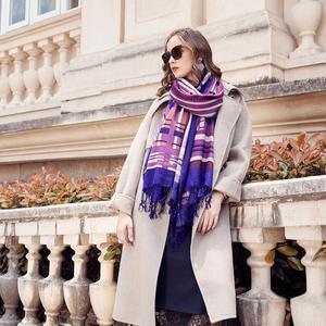Image 5 - Wool Women Scarves Stoles Elegant Carf Warm Shawl Bandana Scarf Luxury Brand Muslim Hijab Beach Blanket Face Shield Foulard