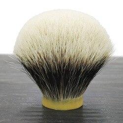 Dscosmetic denso gancho geltip Manchuria los mejores dos nudos de cepillo de afeitar de pelo de tejón