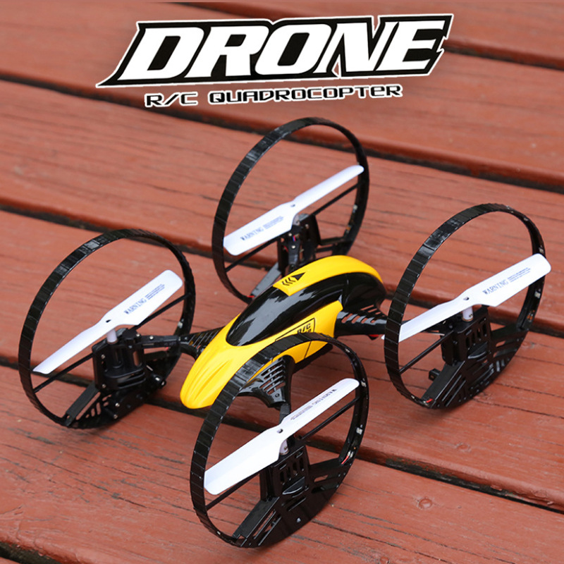 Colorful Air Airplane 2.4G Remote Control Four-axis Coaster Drop-resistant Unmanned Aerial Vehicle Air Dual Purpose Toy Model Ai