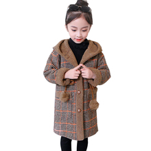 Girls Jacket Coat Outerwear Teenage-Clothes Patchwork Plaid-Pattern for Kids 8 12-14