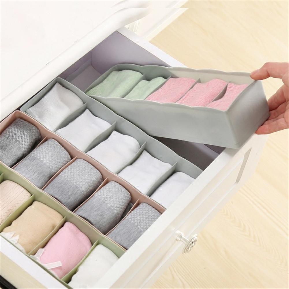 5 Grids Closet Underwear Organizer Travel Set Bra Socks Ties Divider Drawer Storage Box Wardrobe Household Bag