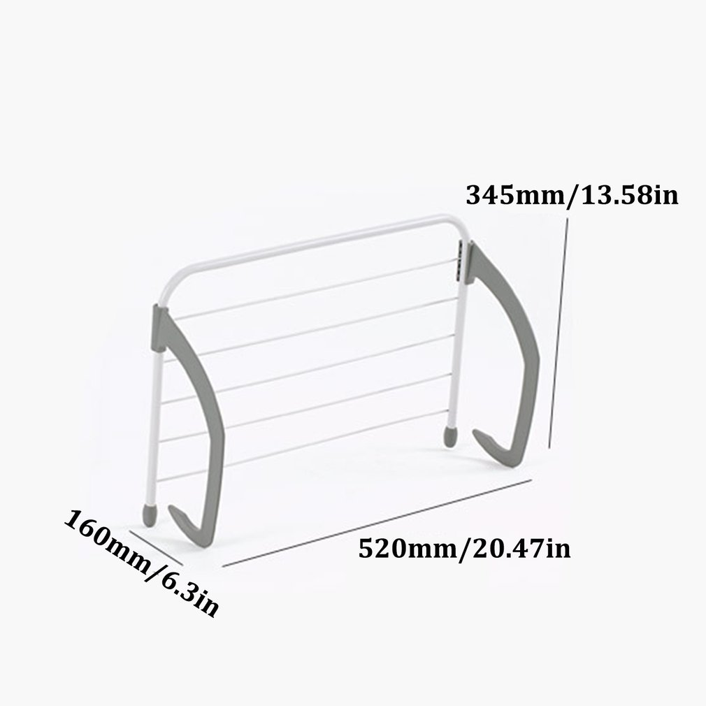 Balcony Indoor And Outdoor ABS Telescopic Clothes Pole Folding Drying Rack Outdoor Radiator Drying Rack
