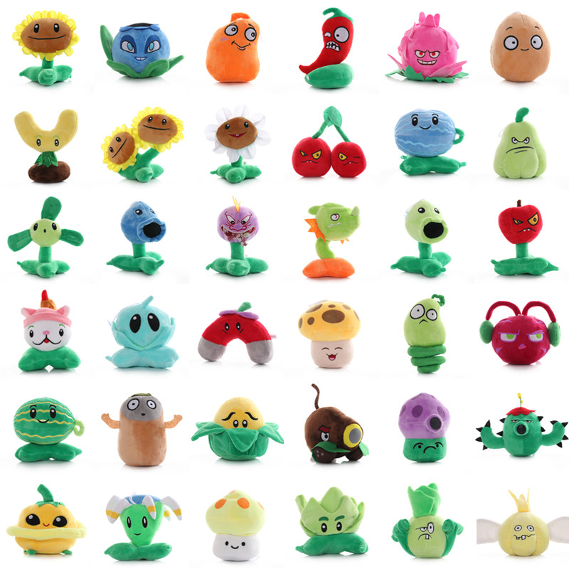 36 Styles Plants Vs Zombies Plush Toy PVZ Plants Peluche Doll War Sunflower Soft Stuffed Toys Christmas Gifts For Kids 20-23 CM