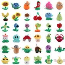 36 estilos plantas vs zumbis brinquedo de pelúcia pvz plantas peluche boneca guerra girassol macio recheado brinquedos presentes de natal para crianças 20-23 cm