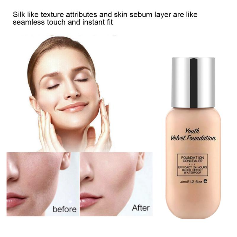 Lazy Foundation Cream Facial Skin Active Oil Control Whitening Waterproof Professional Makeup Base Cream Black Eye ConcealerTSLM