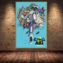 Printed Pictures Home Decoration Wall Art Mob Psycho 100 Nordic Style Japan Anime Poster Canvas Painting Living Room