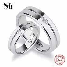 New listing 925 Sterling Silver Custom engraved Name Couple finger Rings for Women Personalized Wedding Jewelry