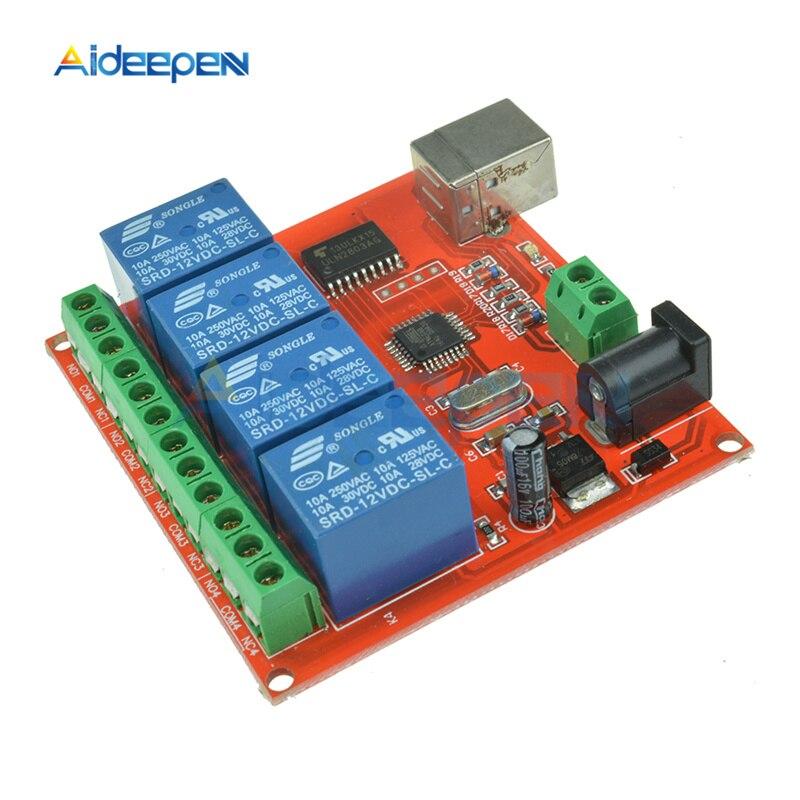5 в 12 в 1 2 4 8 канальный USB реле управления Переключатель программируемый компьютерный контроль для умного дома ПК интеллектуальное управлени...