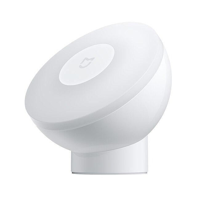 Xiaomi mijia movimento-ativado luz noturna 2 cabeceira guarda-roupa corredor lâmpada de detecção automática brilho ajustável girar lâmpada de parede