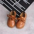 Новинка 2019 года; Детская кожаная повседневная обувь; Тонкие туфли; Модная обувь в британском стиле ретро для мальчиков и девочек; Детская об...