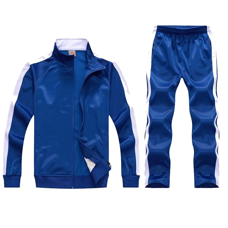 Image 2 - tracksuit men sport suits football training sweat suits school uniform jogging sportswear teengers track suits casual outfits-in Men's Sets from Men's Clothing