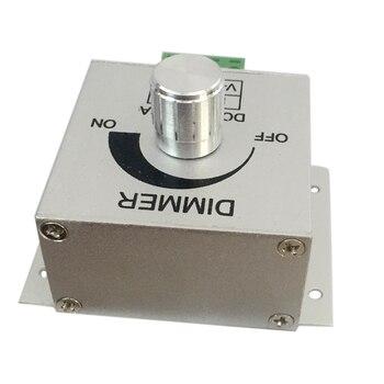 Livraison gratuite en aluminium DC12-24V 8A LED variateur de bande PWM contrôleur de gradation pour les lampes de LED ou le contrôle réglable de ruban