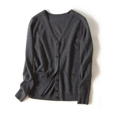 Шерсть вязаный Топ Зимний мягкий женский шерстяной свободный свитер s m l xl - Цвет: DARKGREY MY1821