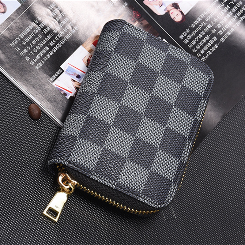 HORIZONPLUS  LUXURY Men Mini Business Card Holder  ID/Credit Card Holder Card Wallet And Purses  Brand Coin Money Bag