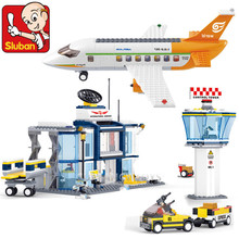 678Pcs City International Airport Airplane Model Aviation Technic Building Blocks Figures Bricks Educational Toys for Children