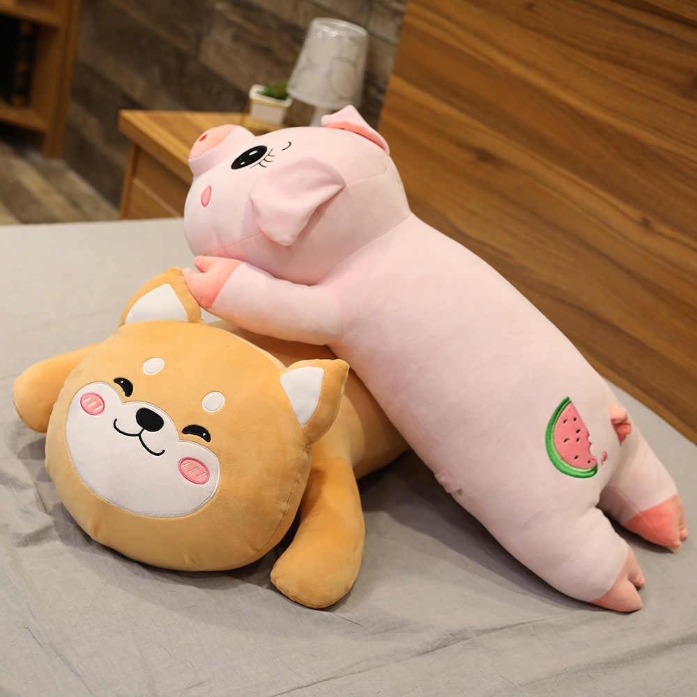 חמוד קואלה חזיר שוכב צעצוע ממולא בעלי חיים בפלאש כרית פיל שיבא Inu כלב שינה כרית מצוירת 80/100 /120cm