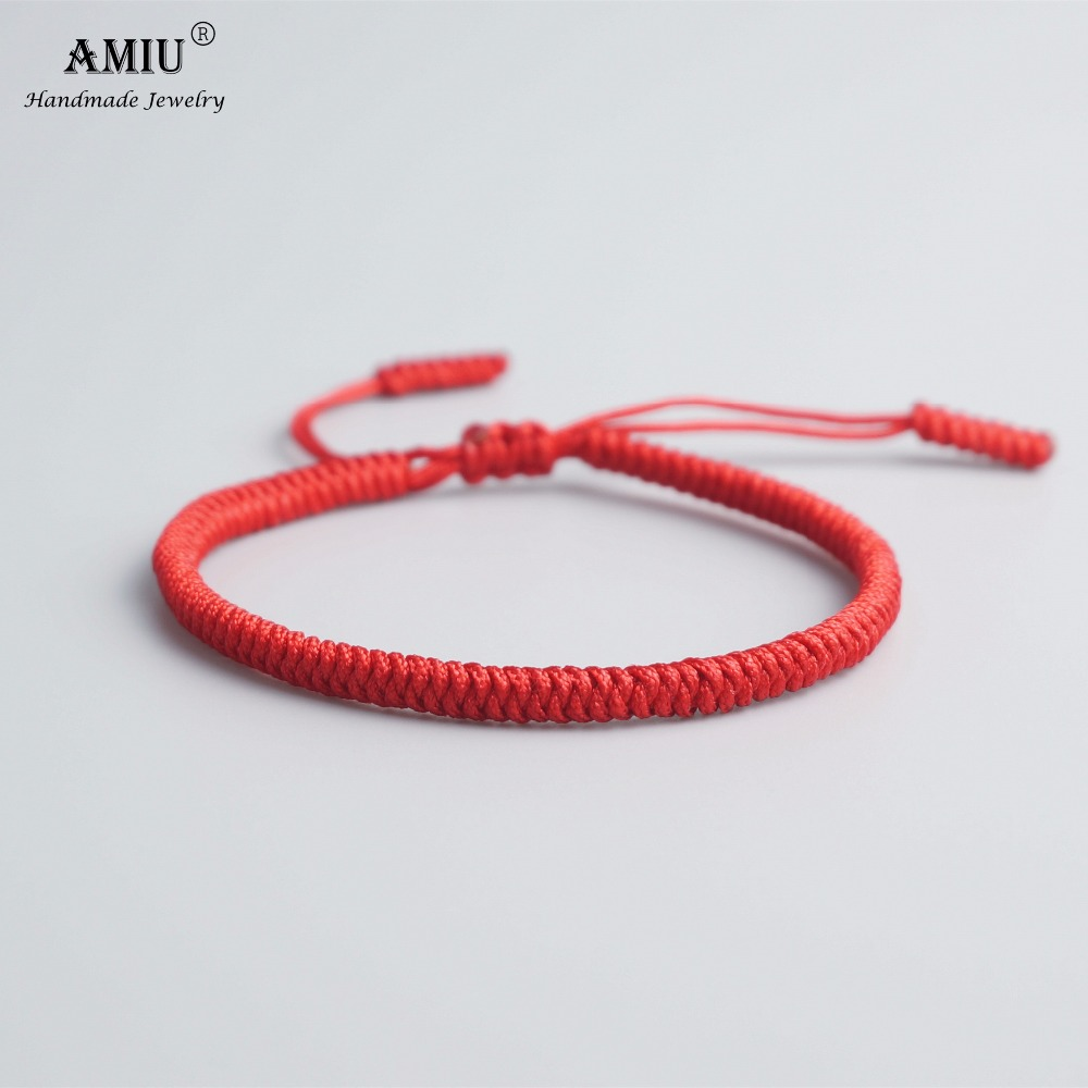 AMIU 33 Colors Tibetan Buddhist Love Lucky Charm Tibetan Bracelets & Bangles For Women Men Handmade Knots Rope Budda Bracelet(China)