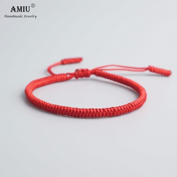 AMIU 33 Colors Tibetan Buddhist Love Lucky Charm Tibetan Bracelets & Bangles For Women Men Handmade Knots Rope Budda Bracelet