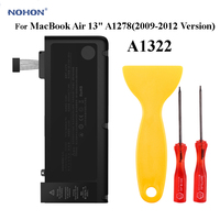 Nohon Laptop Battery For MacBook Air 13 A1322 A1278(2009 2012Year) MC101 MD101 MD313 MB990 MB470 MC700 MC724 MC374 MB990 MD313