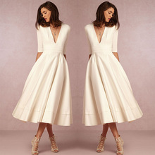 Party Dress Womens night New V-neck Five Sleeve Dresses Woman Night Women Clothes Plus Size Boho