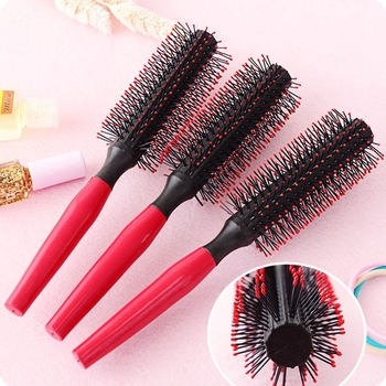 1 Pc Rolling Comb Round Hair Care Brush Hairbrush Women Dressing Comb Care Straight Round Salon Curling Beauty Styling Hair M2Q0