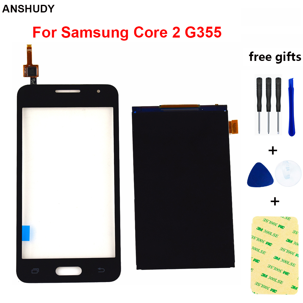 For Samsung Galaxy Core 2 SM-<font><b>G355H</b></font> <font><b>G355H</b></font> G355 LCD <font><b>Display</b></font> Panel Screen Monitor Module Touch Screen Digitizer Glass Sensor image