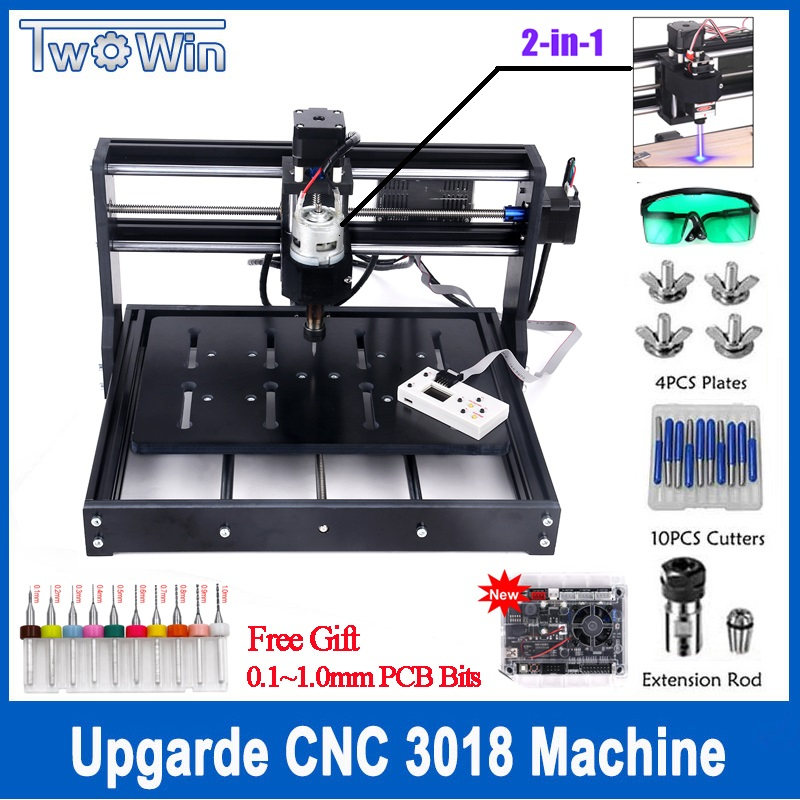 15W Upgraded Control Board DIY <font><b>CNC</b></font> <font><b>3020</b></font> Engraving Machine Wood <font><b>Router</b></font> Cutter Laser Engraver Use GRBL Control Offline Control image