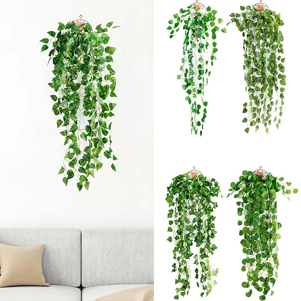 1Pc Artificial Fake Hanging Vine Plant Leaves Garland Home Garden Wall Decoration