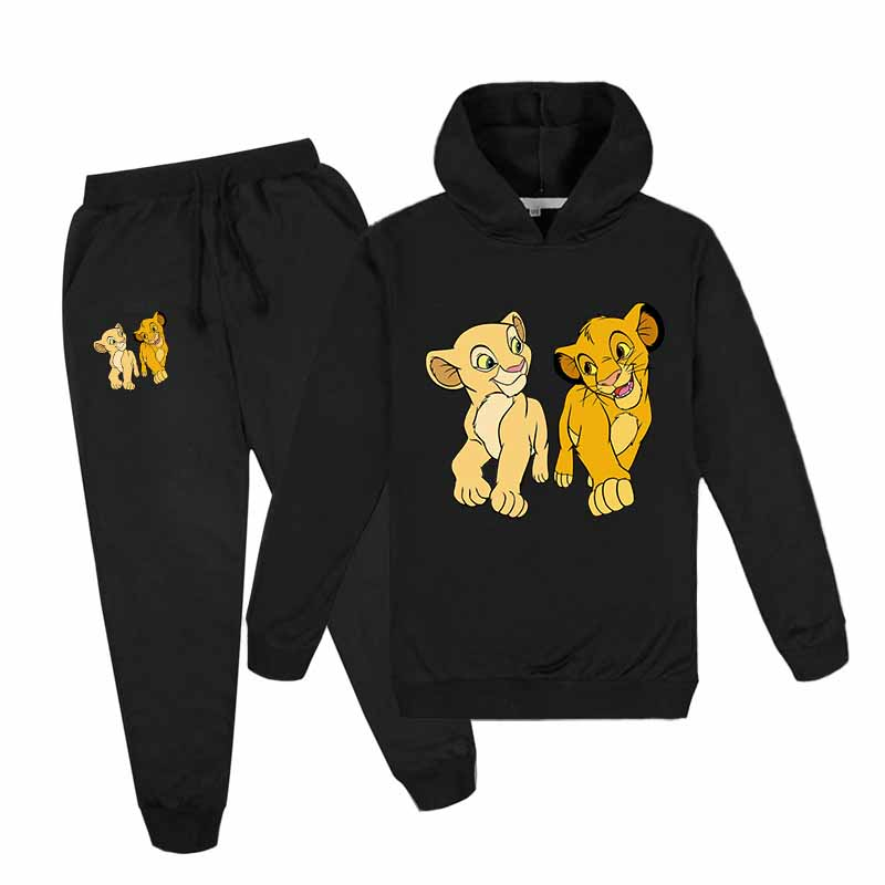 3-16Years toddler boy clothes sets lion printed jogging suit stylish kid teenage clothes kids tracksuit Hoodies costume for boys